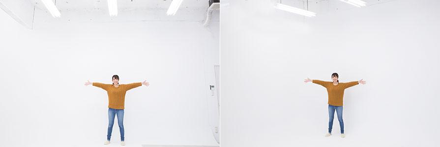 大阪平野店白廃墟スタジオ白ホリゾント