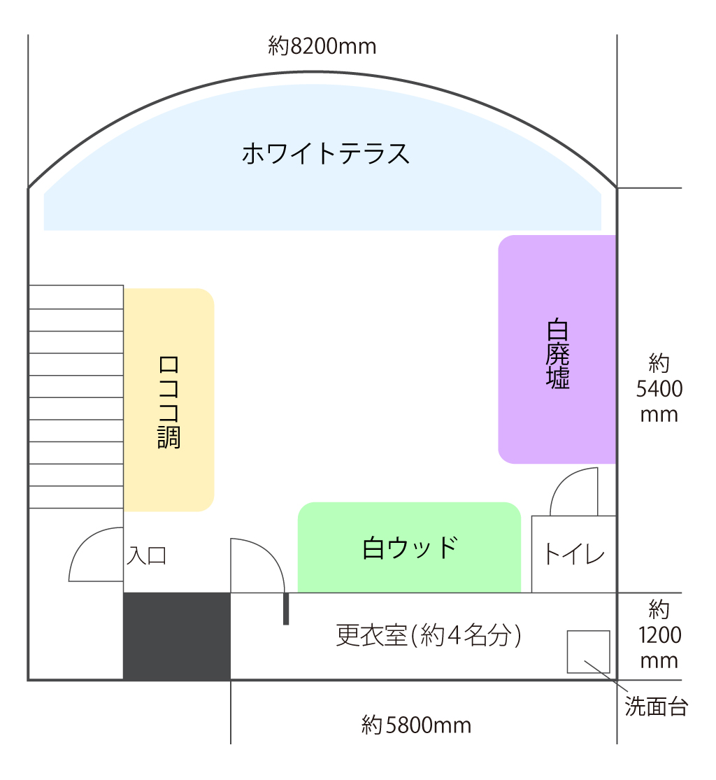 新大阪サニースタジオ見取り図