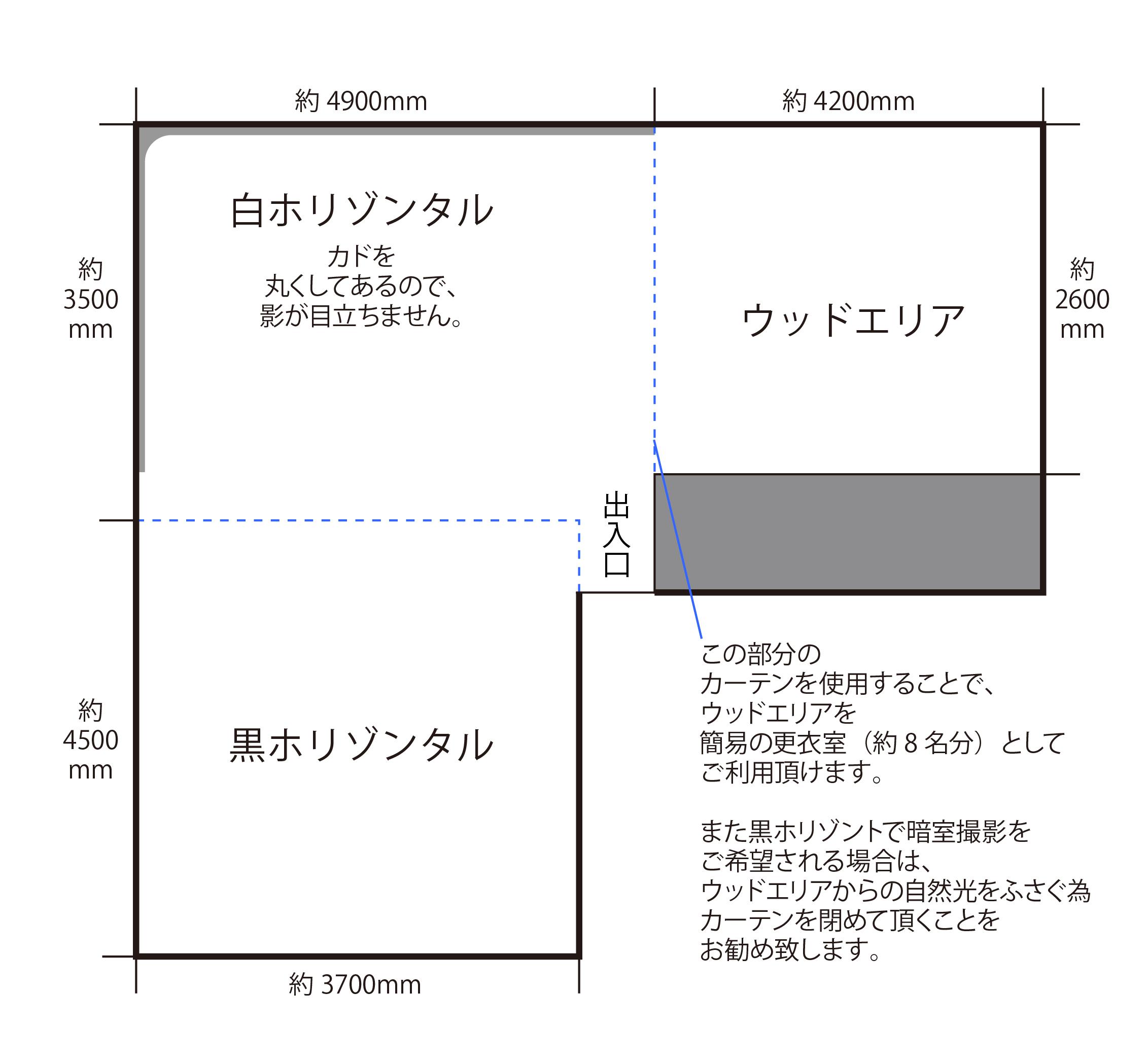 なんば桜川ベーシックスタジオ見取り図