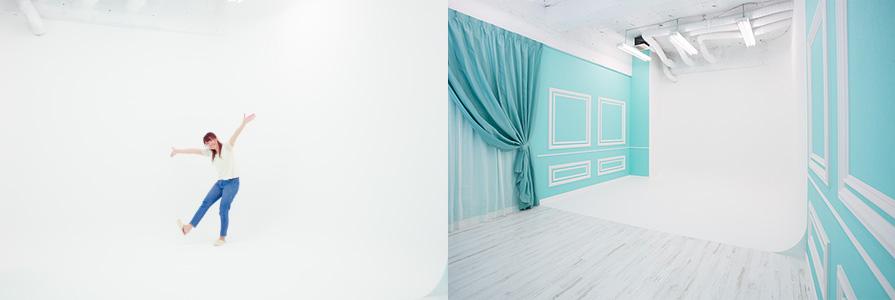 大阪平野店ヨーロピアンスタジオ白ホリゾント