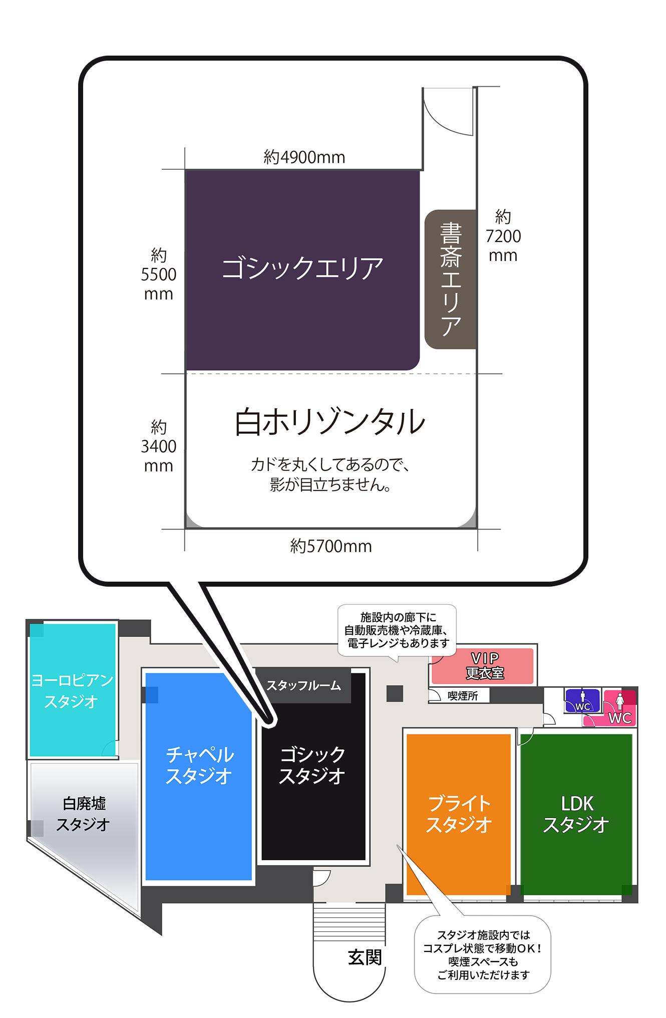 大阪平野ゴシックスタジオ見取り図